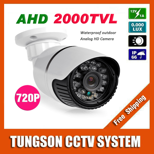 New Arrival 1.0MP AHD 1280*720P CCTV Camera 2000TVL Outdoor Waterproof Mini 24led infrared Bullet Security Video Surveillance(China (Mainland))