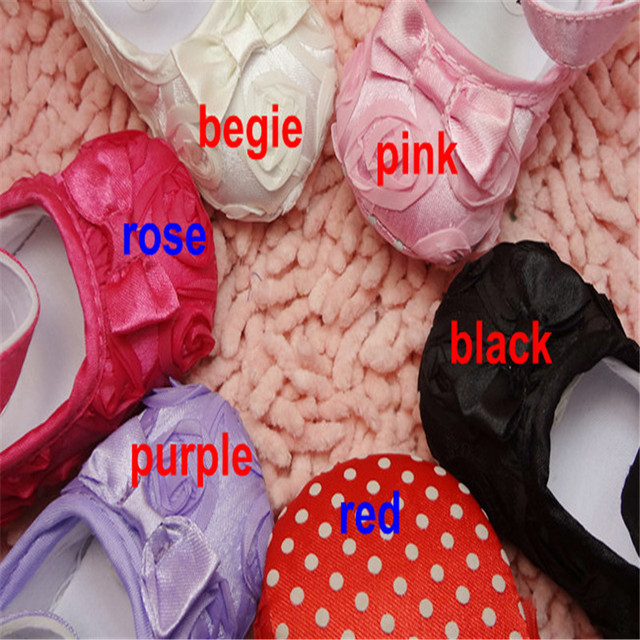 S301 hot sales 6 color children's shoe beautiful Rose flower with bow Infant Baby Shoes Girls Toddler dress soft sole
