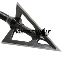 6PCS Laser Welded 3 blades Fixed Blade Ultra Sharp Hunting Arrow Head Broadheads 1oo Grains Hunting