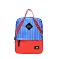 Designer Striped Backpack Women Large Capacity Preppy Style School Bag Ladies Fashion Contrast Color Patchwork Casual