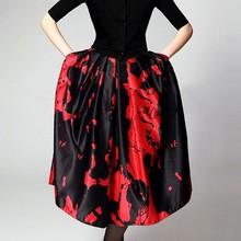 Plus Size Vintage Skirt Wommen Pleated Ball Gown Ball Gown Party Skirts Womens High Waist Long Skirt saia longa femininas 38