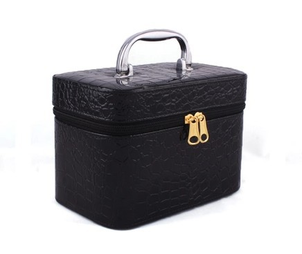 Small Size Cosmetic Case Crocodile Pattern Travel Storage Box PU Mini Cosmetics Bag Case 4 Colors High Quality Dropshipping(China (Mainland))