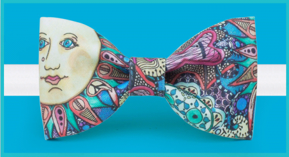 Original design Decoration painting portrait bow tie groom dress suits tuxedo cocktail party bow tie fun birthday wedding gift(China (Mainland))
