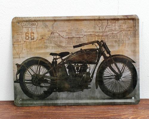 Deco plaques fer ou plaque emaillee  15-21-CM-ROUTE-66-US-font-b-Motorcycle-b-font-Wall-Sticker-Decor-Iron-Retro