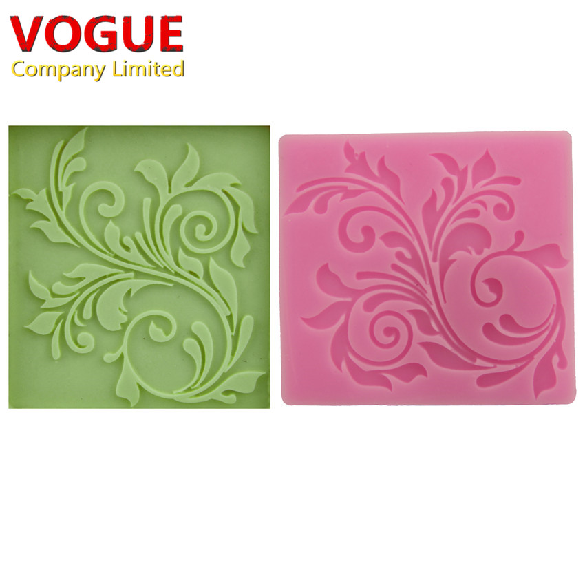 nice lace Silicone Impressing Mold Mat Fondant Cake Sugar Mould cooking tools Flower Decorating Tools DIY moulds molds N1790(China (Mainland))