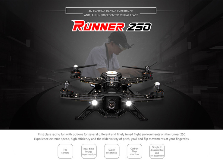Walkera Runner 250 Basic 3 Version Racing with DEVO 7 RC Quadcopter Drone with OSD module