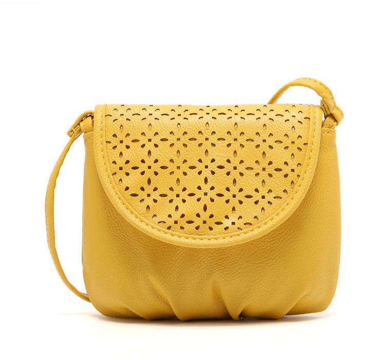 Wholesale 2015 new fashion women messenger bag yellow shoulder bag bolsa feminina envelope summer style crossbody bag for girl(China (Mainland))