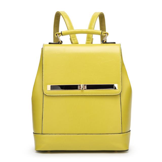Женщины Масло воск кожа рюкзак сумка женская рюкзак женщина рюкзак дамы рюкзаки для ...