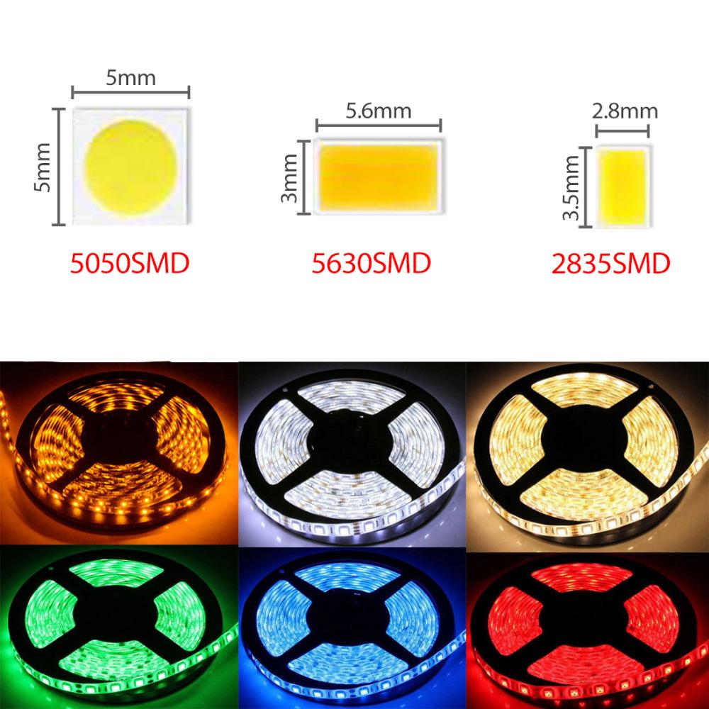 5M 10M 15M 20M SMD 300LEDS 2835 5050 5630 IP20 IP65 IP67 Flexible LED Strip 12V Super Bright RGB White Blue Yellow Green Red(China (Mainland))