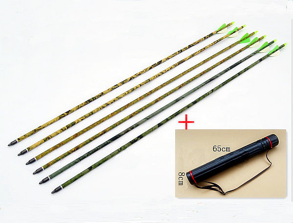 Free shipping quality fiberglass camo arrow 7578 12 pcs 31 archery bow shoot hunt 1 pc