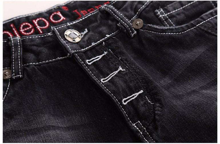 Winter Men Skinny jeans Solid color casual Eagle punk hip hop pants fashion vaqueros hombre Man Famous Brand denim Harem pants