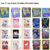 """Kids Gifts Congelados Yellow Minion Hello Kitty 7 inch PU Leather Case Cover For 7"""" LG G Pad 7.0 V400 LTE V410 Tablet"""