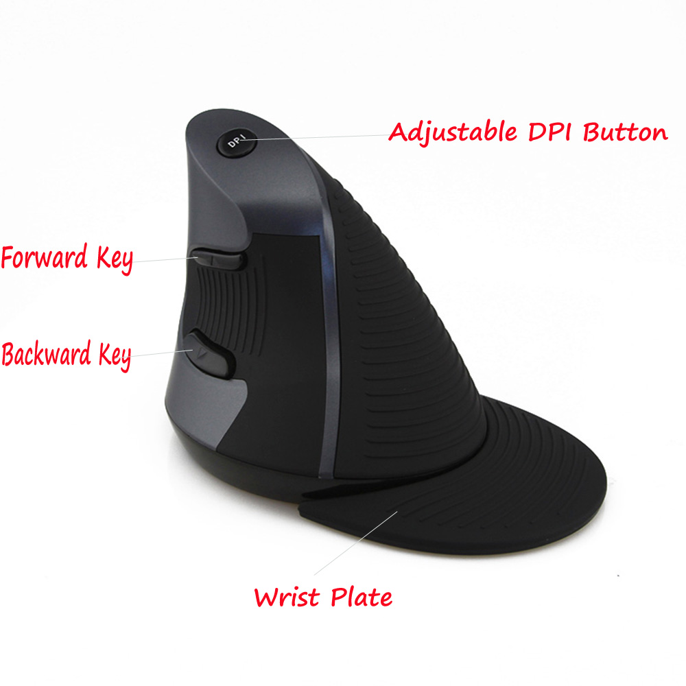 Delux M618GL 2.4G Wireless Optical Grab handle Grip Vertical Mouse 800-1600 DPI adjustable Computer Mice(China (Mainland))