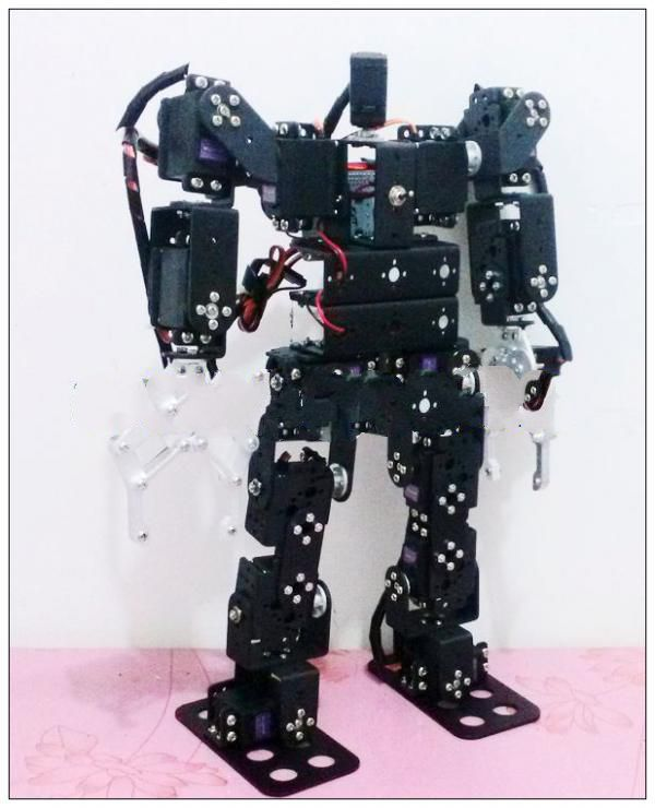 17 degrees of freedom humanoid improved version of Dancing with holding the clutch Walking Robot Teaching Package Series<br><br>Aliexpress