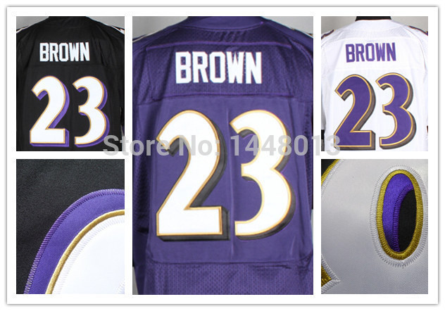 #23 Chykie Brown Jersey,Baltimore Football Jersey,black purple Men Elite edition jersey Stitched Size S-XXXL Accept Mix Order(China (Mainland))