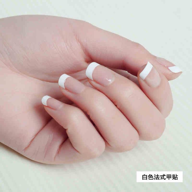 White French Nail Tips Uv Gel Acrylic Fake Nail 10 Sizes Artificial ...