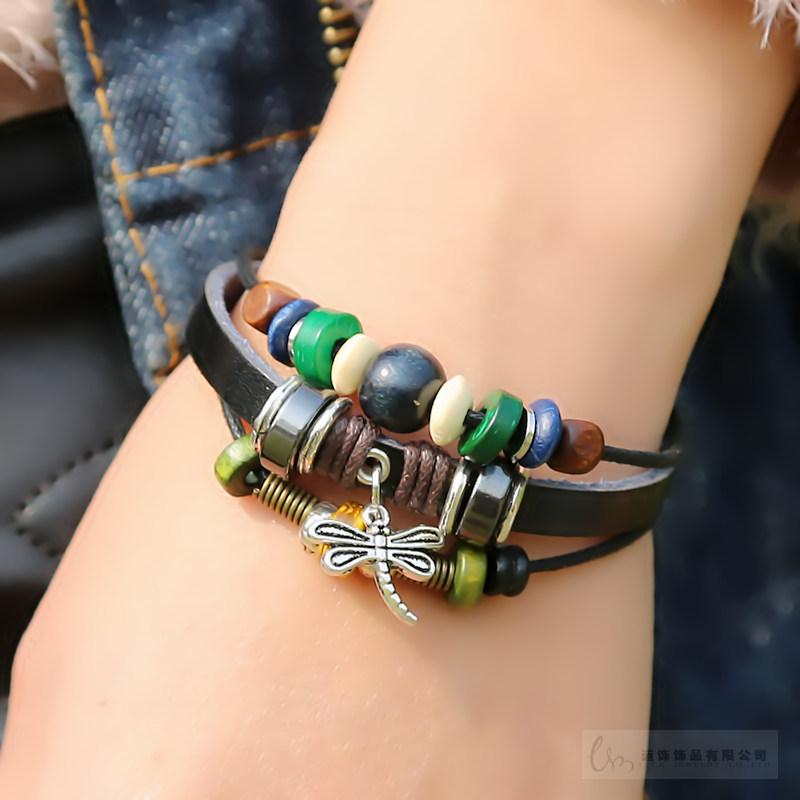 Vintage fashion male bracelet female jewelry punk multi-layer lovers birthday gift hand SL-1061(China (Mainland))
