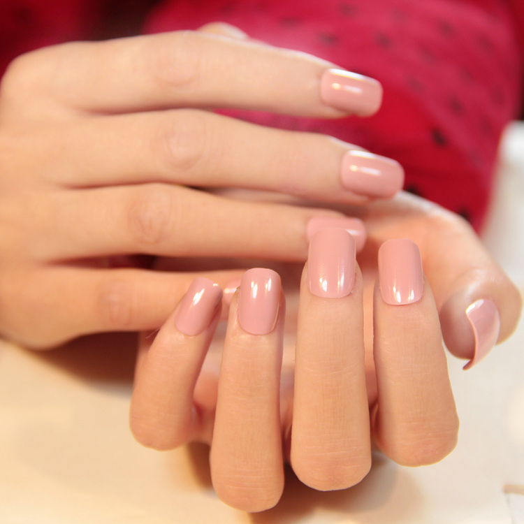 French manicure super short nails