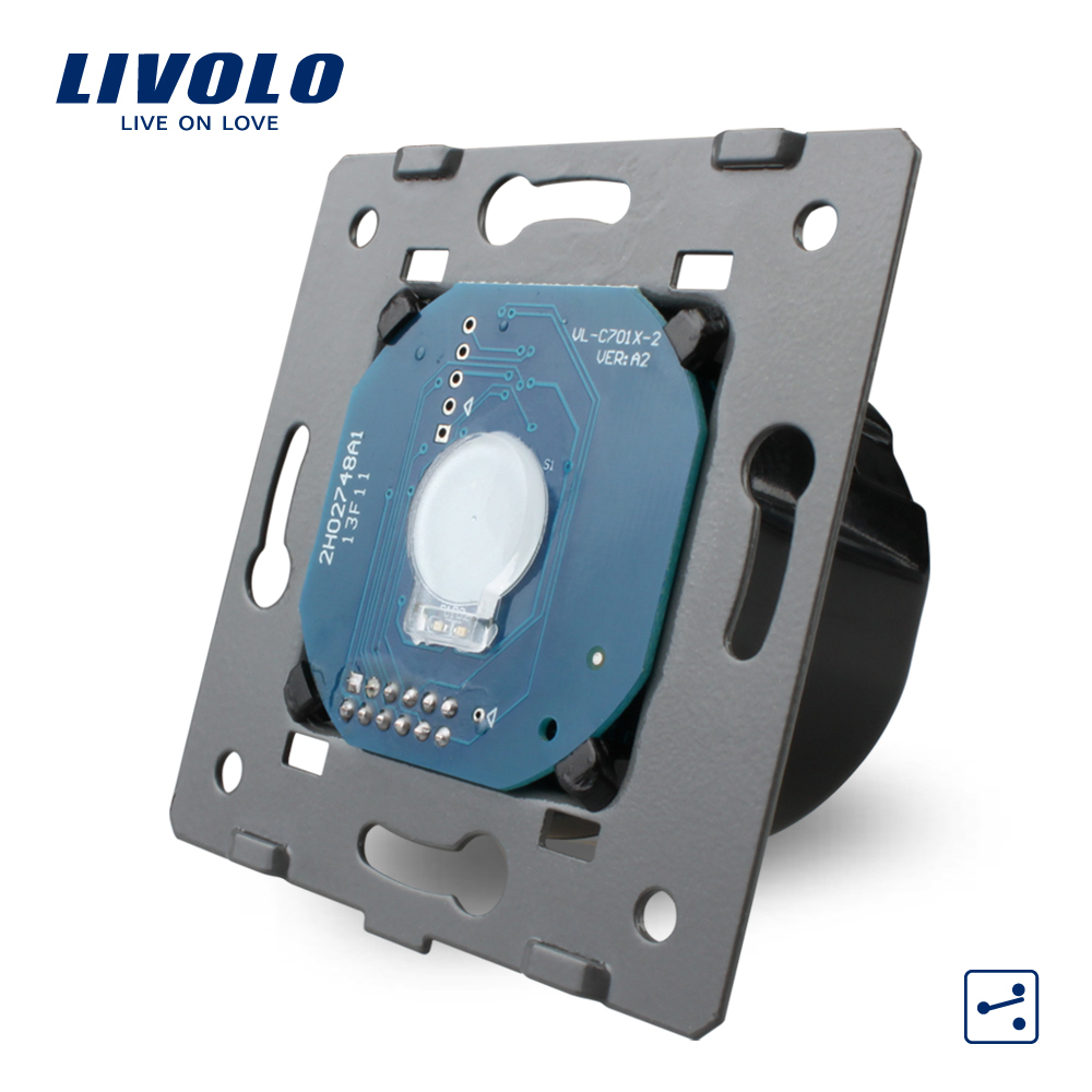 Manufacturer, Livolo EU Standard,1 Gang 2 Way Control, Wall Light Touch Screen Switch Without Glass Panel,VL-C701S(China (Mainland))