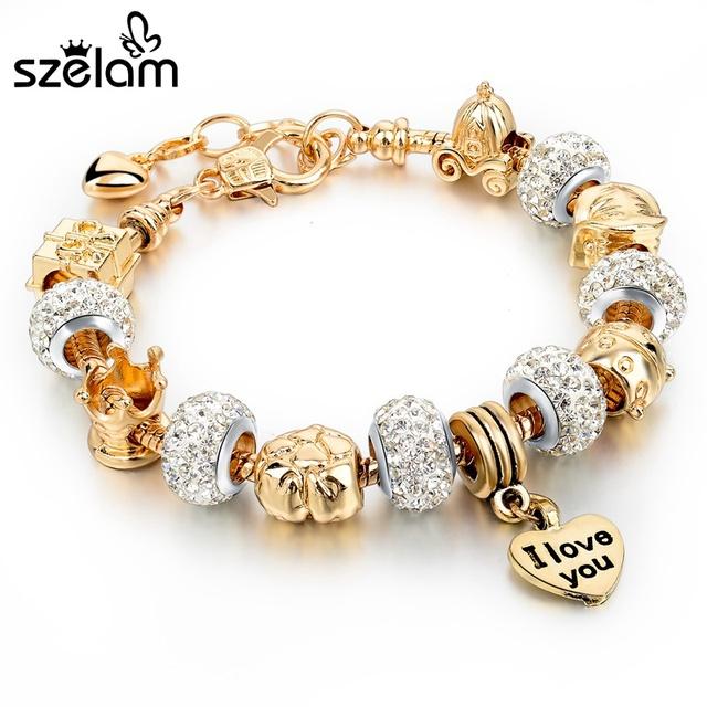 2016 новое поступление золота шарм браслеты для женщин змея цепи сердца браслеты ...