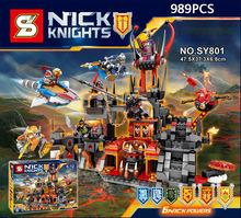 Nexus nick knights Hardcover edition Joker Jestro Volcano Lair building block Clay Axl devil minifigures compatible legoes 70323 - NeverLand funny toy Store store