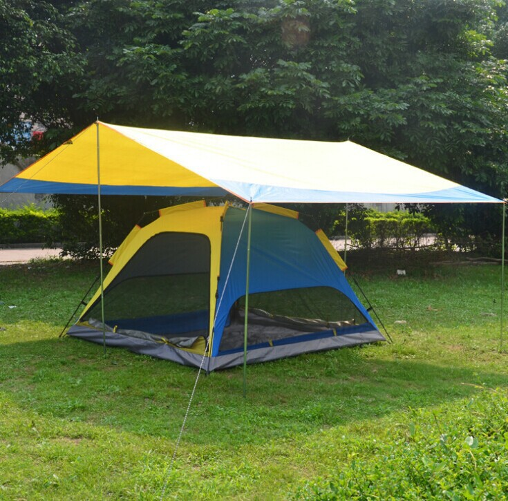 Canopy Kit / silvering lining UV spinning automatic tent / folding tent(China (Mainland))