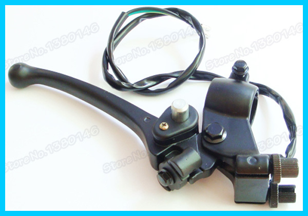 brake lever dual double cable wire For moped scooter Motorcycle Motocross Pit dirt Pocket Bike(China (Mainland))