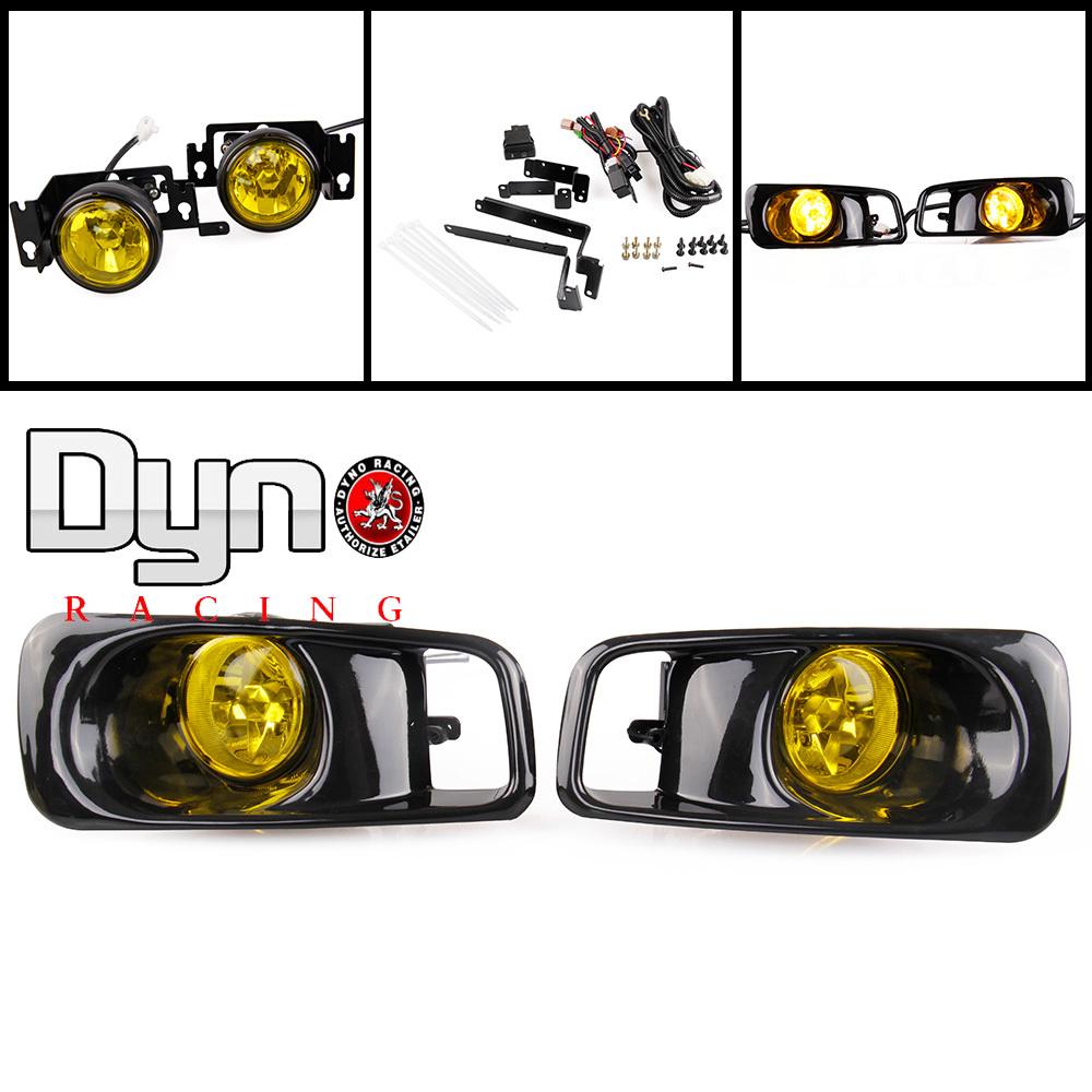 Yellow Fog Lights lamp Halogen fit 99-00 for Honda Civic 2/3/4 dr EK EM Kit EX DX LX SI SiR HB HX(China (Mainland))