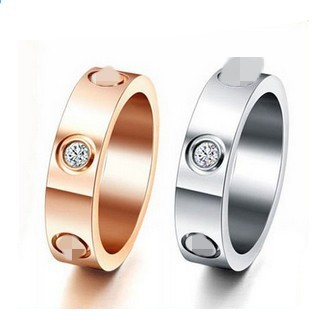 High quality men women wedding jewelry love forever couple lovers rings 18K Gold filled white rose yellow gold USA size 6-14(China (Mainland))