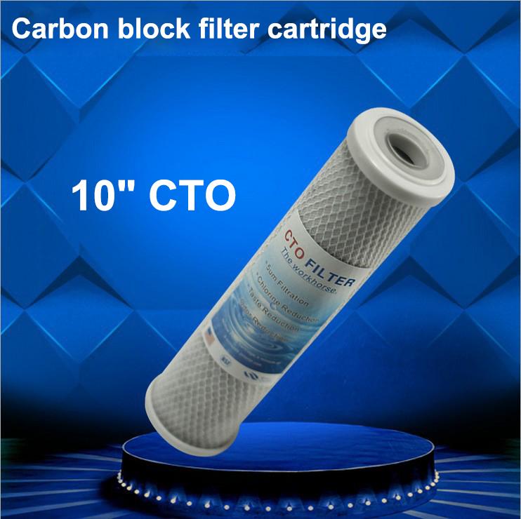 "Гаджет  2 pcs/lot  5 micron 10"" CTO carbon block filter cartridge used for RO water purifier  None Бытовая техника"