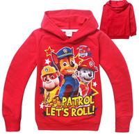 baby boys Rocky patrol Hoodies dog hot sale 2015 black children clothes new designer fashion boys clothes infantil menino ropa