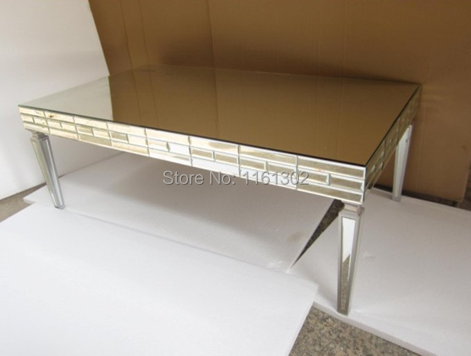 mr 401348 mirrored living room furniture coffee table in