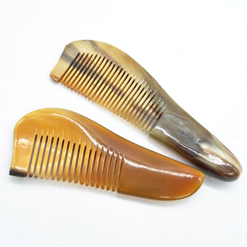 Women OX Horn Comb Moustache Beard Barber Comb