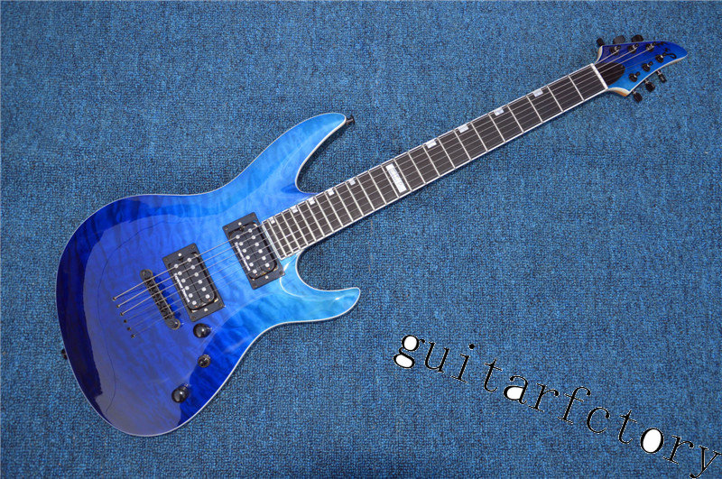 All Real Pictures China ESP/LTD Electric Guitar Ebony Fretboard 24 Frets Quilted Maple Top and Back esp guitar(China (Mainland))