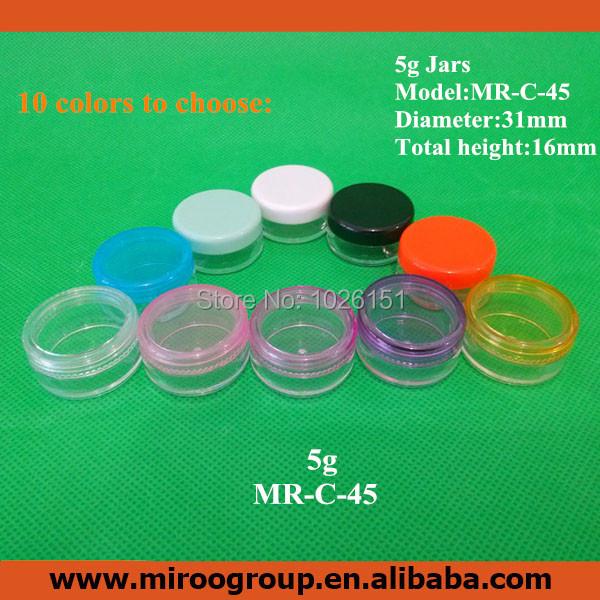 FreeShip High Quality Cheap 100PCS 5ml 5g PS Cosmetic Bottle for Eye Cream Nail Art Eyeshadow