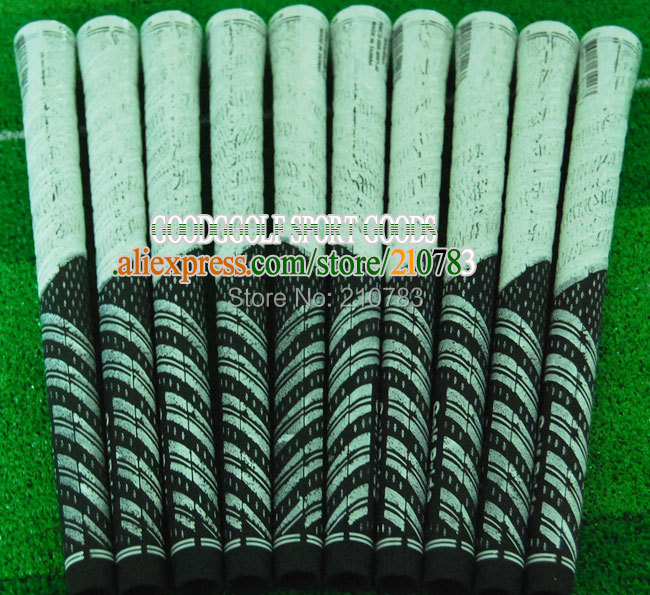 30pc/Lot New golf club Grips black/White.Rubber Golf irons Grips,Can mix Color Grip,EMS