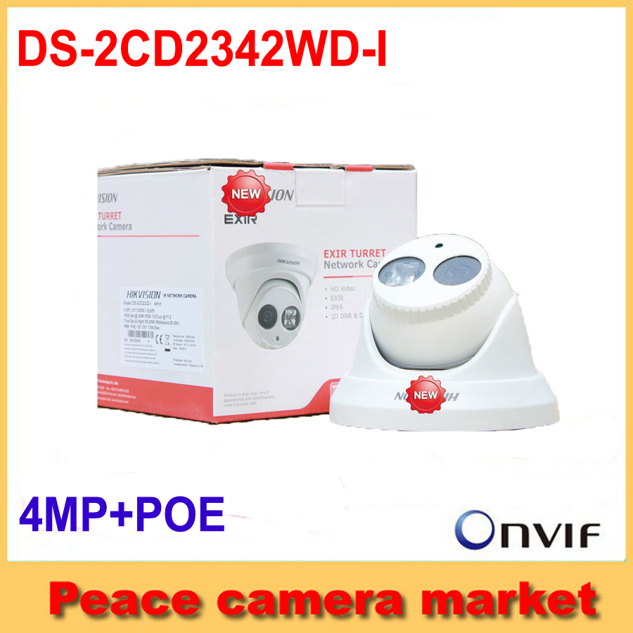 Hikvision IP camera mini DS-2CD2342WD-I 4.0 Megapixel IR Dome Network Camera Support H.264+ POE IP cameras WDR(China (Mainland))