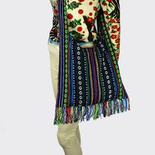 Hmong Vintage Ethnic Tribal Thai Indian Boho shoulder bag messager bag linen handmade embroidery Tapestry SYS