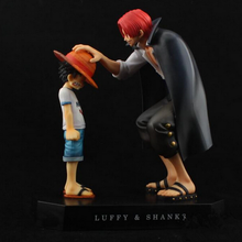 New anime one piece pop child Monkey D Luffy Shanks action figure model toy reminiscence pvc dolls decoration hot free shipping