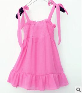 2015 estate nuovi colori tessuto di lino fungo ragazze capretti del vestito(China (Mainland))