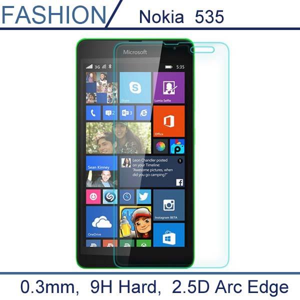 Гаджет  0.3mm Premium Tempered Glass for Nokia Lumia 535 9H Hard 2.5D Arc Edge  Transparent Screen Protector with Clean Tools None Телефоны и Телекоммуникации