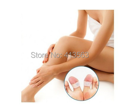 2pcs of one Pair Slimming Silicone Foot Massage Magnetic Toe Ring Fat Burning For Weight Loss Health Care free ship(China (Mainland))