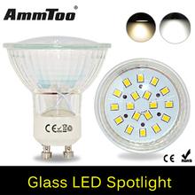 Buy 2016 NEW GU10 220V Led Spotlight 2835 SMD 18Leds Glass Lamp Body GU 10 5W Spot Light Led Bulb Downlight Lighting 1PCS/LOT for $2.59 in AliExpress store