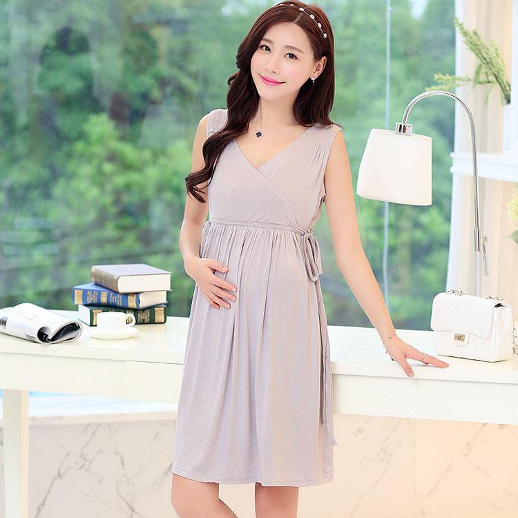 Summer Modal Breastfeeding Nursing Clothes Dress For Feeding Maternity Clothing Wear Pregnant Women Pregnancy Mothers Fashion(China (Mainland))