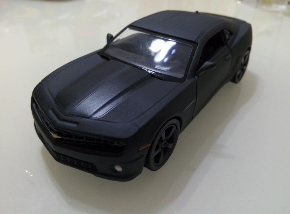 1:36 Pull Back Alloy Diecast Car Model ForChevrolet Camaro - Matte Black(China (Mainland))