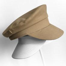 BUTTERMERE العسكرية القبعات الرجال القطن الأبيض بحار كاب الذكور الصلبة الصيف تنفس شقة بيكر صبي منقار البط الكابتن الجيش قبعة قبعة(China)