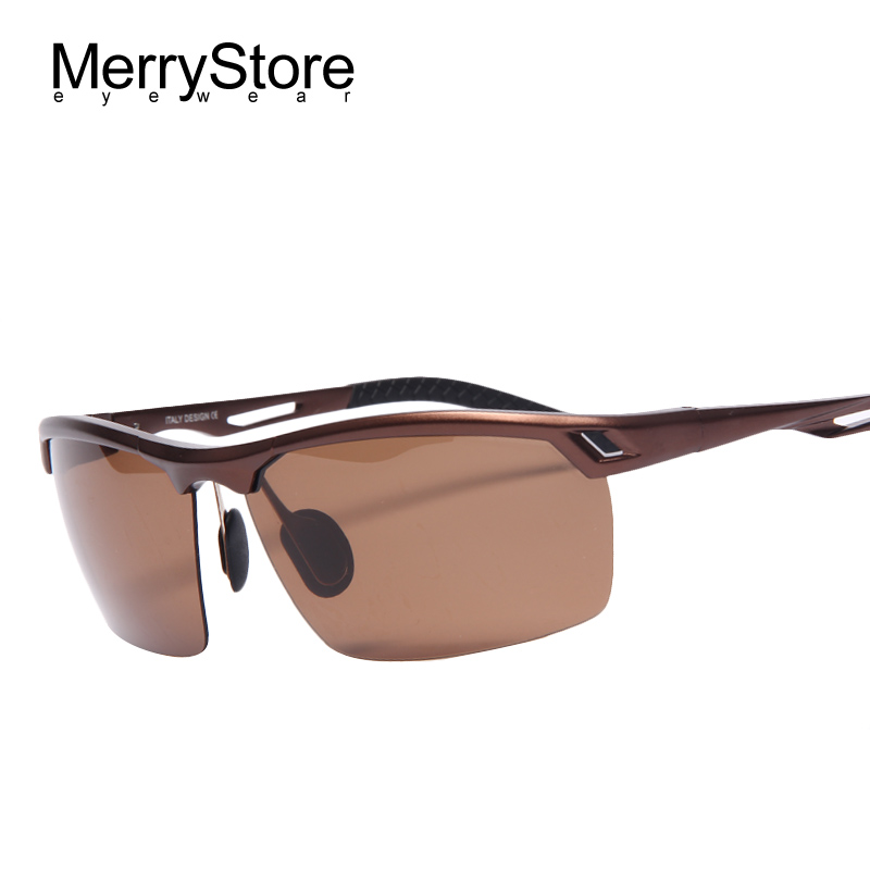 2015 Men Polarized Gold Aluminum Alloy Frame Sunglasses ...