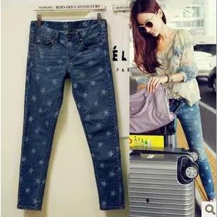 [해외]women jeans plus size elasticity ladies jeans skinny ..