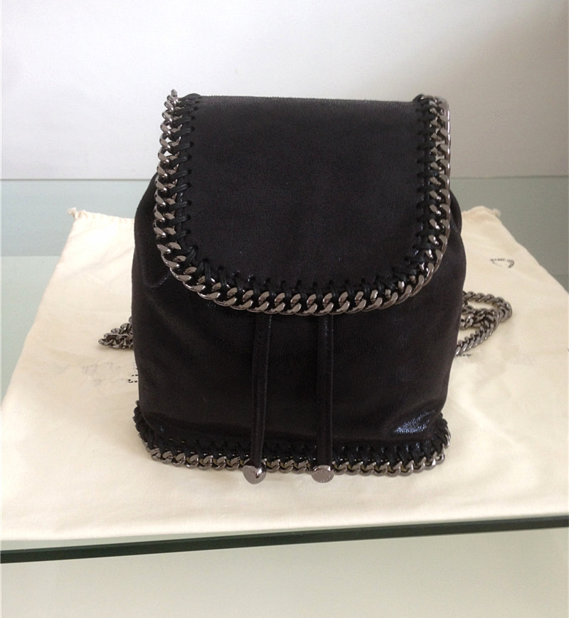 2016 real picture factory outlet backpack Fashion classical luxury lady chain bag Original pvc personality bag(China (Mainland))