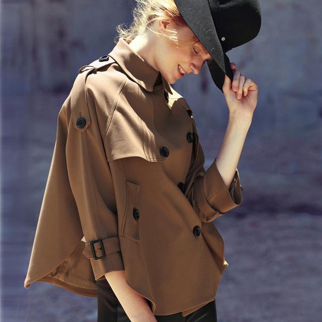 Европа 2016 Hitz Б марка свободный плащ ветровка куртка женщины красивый стиль смесь 2 цвета